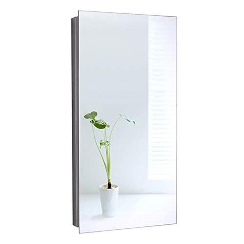 Mirror Cabinets Edelstahl Spiegelschrank Ecke Badezimmerspiegelschrank Badezimmerspeicherschrank Dreieck Spiegelkasten Spiegelschrank (Color : Silver, Size : 30 * 60 * 20cm)