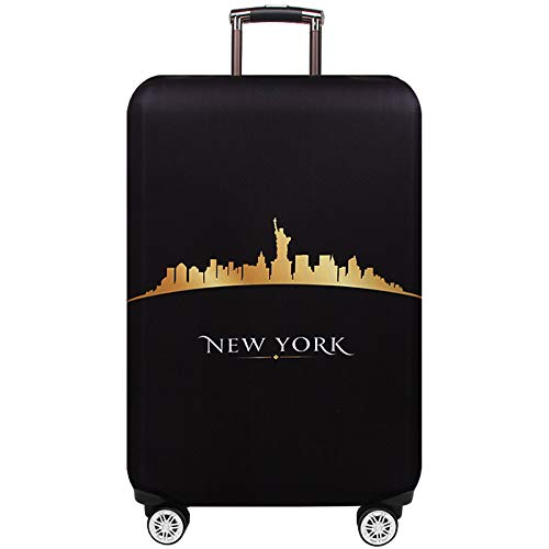 TRAVELKIN Washable Travel Gear Cover, Thickened Luggage Cover, 18/24/28/32 Inch Suitcase Spandex Protective Cover (XL(29'-32'luggage), New York)