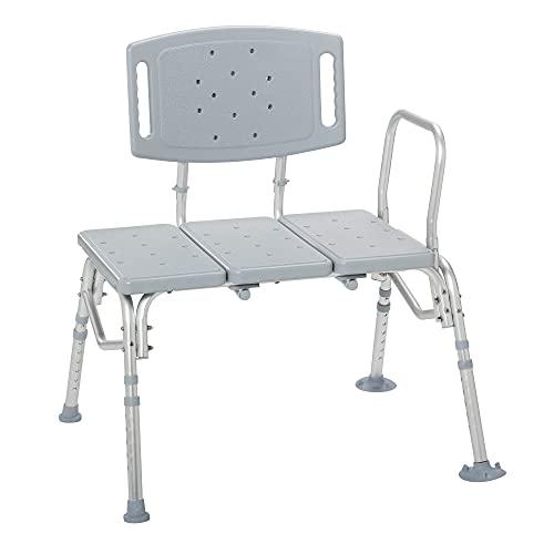 Drive Medical Heavy-Duty Bariatric Plastic Seat Transfer Bench