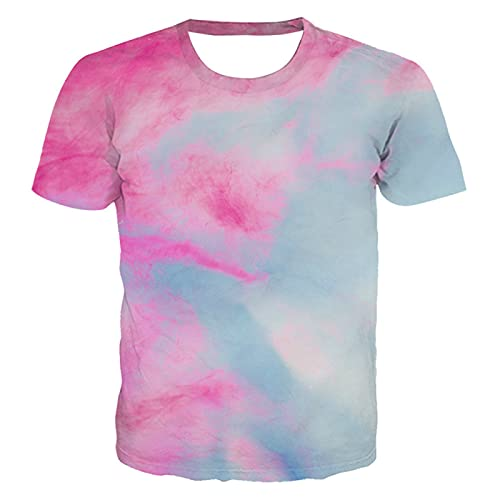 DREAMING-Camiseta Casual de impresión Digital en 3D, Jersey de Cuello Redondo y Manga Corta Suelta S