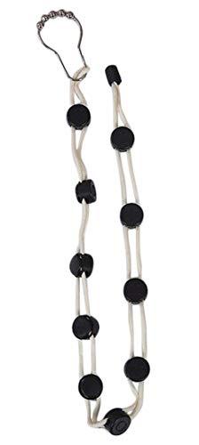 Plus Nao(プラスナオ) 靴下 洗濯 ロープ 物干しロープ ソックス くつ下洗い紐 整理 収納 省スペース 乾燥ロープ 調節可能 滑り止め 物干し - ホワイト