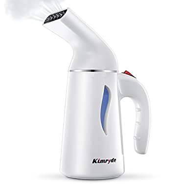 Kimryde Portable Steamer for Clothes, 5-in-1 Handheld Clothes Steamer Wrinkle Remover, Sterilize. Travel Steamer, Hand Held Garment Fabric Steamer, Steam Iron for Home/Travel, Fast Heat-up, 100% Safe