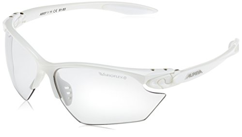 ALPINA Sonnenbrille Performance TWIST FOUR S VL+ Outdoorsport-brille, White, One Size