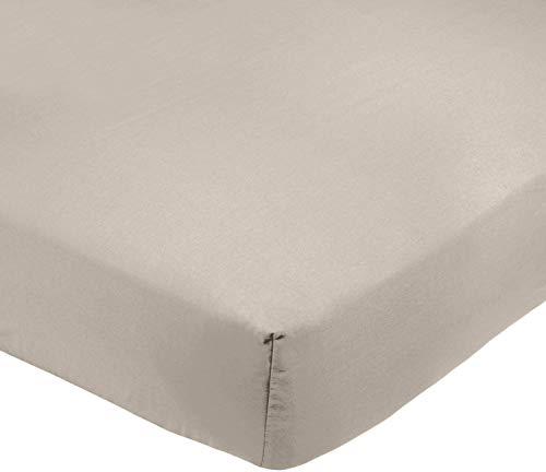 Amazon Basics AB 200TC Poly Cotton, Combinación de algodón, Gris, 90 x 190 x 30 cm