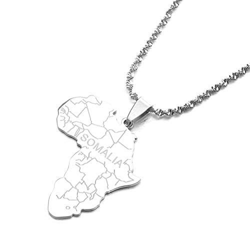 N/A Halskette Anhänger Edelstahl Karte mit Anhänger Halsketten für Frauen Männer Kettenschmuck Muttertags-Weihnachtsgeburtstagsgeschenk
