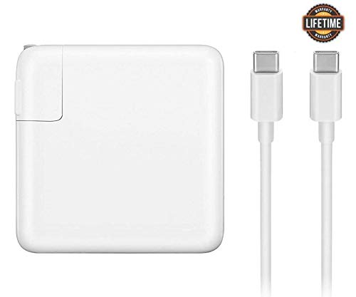 USB-C Charger with 87W Power Delivery 3.0 Port, Power Adapter Replacement for MacBook Pro 13 Inch 15 Inch after 2016, MacBook Air 2018, Compatible with iphone , iPad, Samsung, ASUS, Acer, Dell, Lenovo