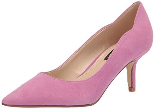 NINE WEST Women's Abaline Pump, Medium Pink Suede, 8