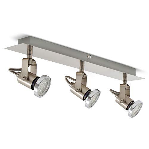 LED Deckenleuchte I schwenkbare Deckenlampe inkl. 3 x 5W 400lm Leuchtmittel I 3 flammig I GU10 I warmweiß
