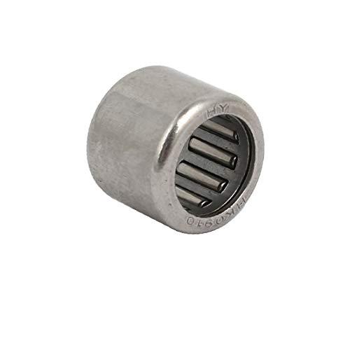X-DREE 13mmx9mmx10mm Completo Complemento Copa de rodamiento de rodillos Tono plateado (f135b30218298e04b6005eafaff2953e)