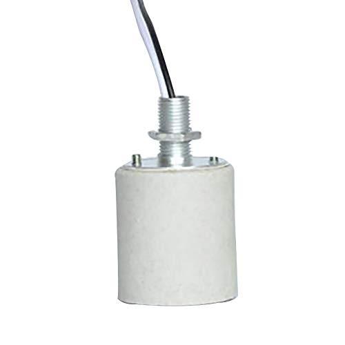 Adaptador de base de lámpara Adaptador Tornillo de cerámica durable Ronda Hogar Socket E27 E14, con cable resistente al calor, for fácil de instalar los portalámparas (Color : E27)