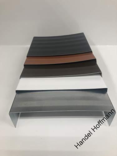 Mauerabdeckung Attika Blech UDS Verbinder Verbindungstück farbig+Titanzink (Anthrazit, Zuschnitt 33 cm)