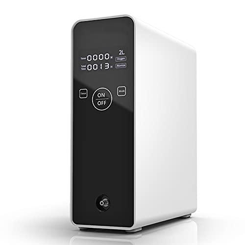 DQXMM Concentrador de oxígeno portátil, máquina de oxígeno Inteligente para Coche de Flujo Ajustable 2L, Disponible para Mujeres Mayores/Embarazadas, 110-240v