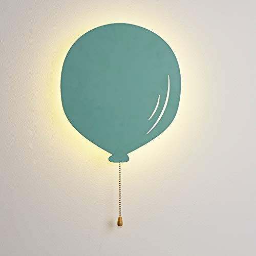 Lights4fun Lámpara de Pared Globo Verde con 13 LED Blancos Cálidos a Pilas para Interiores