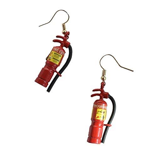 BQZB oorbelsimulatie Brandblusser oorbellen Creatieve Mini Minimalisme Concise Ontwerp Sieraden Gift Vrouwelijke Oor Pins