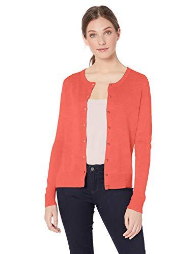 Amazon Essentials Lightweight Crewneck Cardigan Sweater Sweaters, Corallo, S