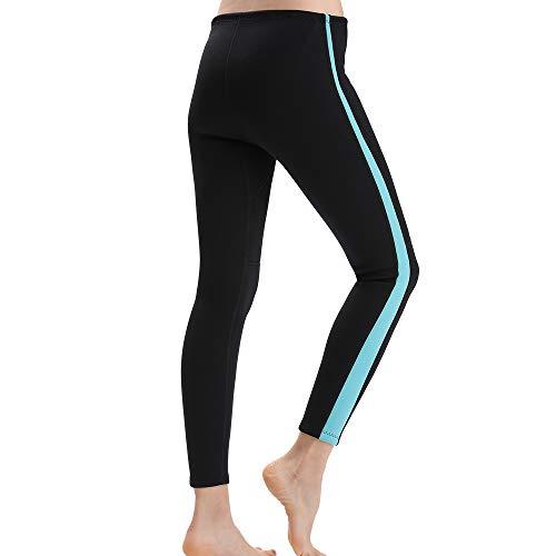 Flexel Wetsuit Tops/Pants, 2mm Premium Neoprene Wet Suit Jacket/Scuba Diving Vest for Swimming Snorkeling Surfing Fishing XSPAN Front Zipper Suit (1.5mm Black Blue, 2X-Large)