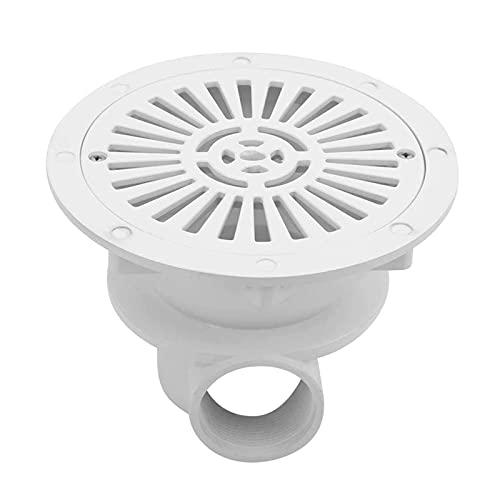 YiGanQiang Weiße Farbe Teich runder Bodenablauf, Pool runder Bodenablauf, Gartenverbesserung Heimwerker für Poolwartungszubehör Poolwartungsteile (Color : White)