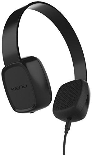Kenu Groovies hoofdtelefoon voor kinderen vanaf drie jaar in het zwart [Sharelink-functie, 3,5 mm jackaansluiting, volumebegrenzing bij 85 dB, hypoallergene oorpads] - GV1-KK-NA
