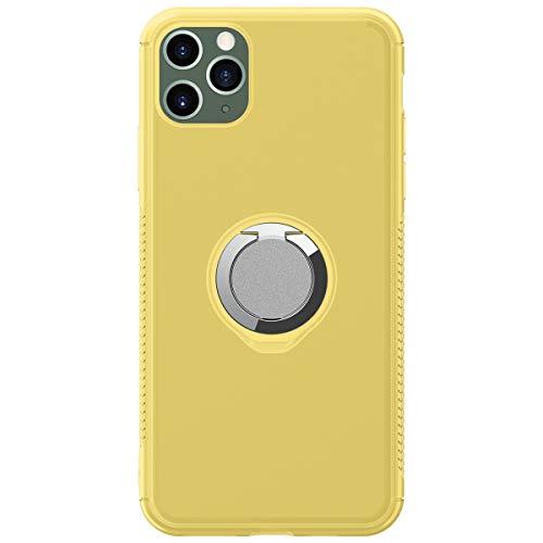 Kompatibel mit iPhone 11 Pro Max Hülle Case Slim Stoßfest Handyhülle mit 360 Grad Ring Ringhalter Ständer Magnetische KFZ-Halterung Hart Bumper Cover Case Schutzhülle für iPhone 11 Pro Max