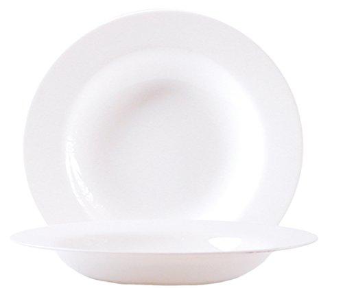 Arcoroc ARC E6982 Evolution Uni Teller tief, 22cm, Opalglas, weiß, 6 Stück