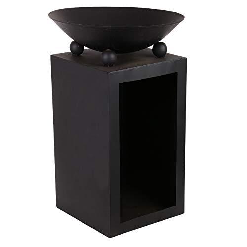 RM Design Metall Feuerschale für Garten & Terasse in Schwarz 44 cm Durchmesser