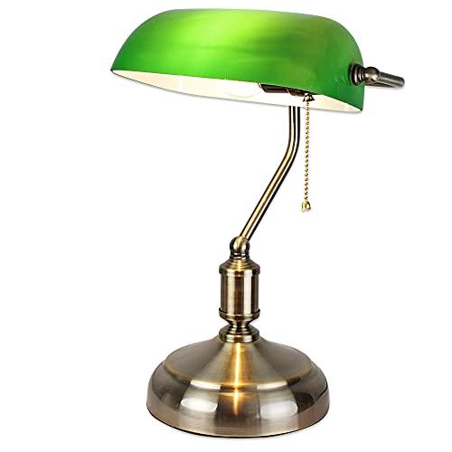 FISHTEC Lampe de Banquier Verte - Lampe de Bureau...