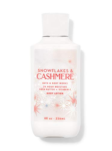 Bath and Body Works Body Care  Snowflakes amp Cashmere  24 Hour Moisture Body Lotion w/Shea Butter  Vitamin E  Full Size 8 fl oz
