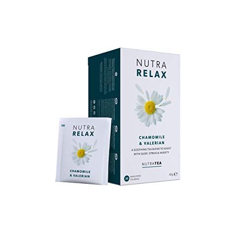 NutraRelax - Kamillentee | Beruhigungstee | Anti-Angst-Tee – 20 Verpackte Teebeutel - von Nutra Tea – Kräutertee