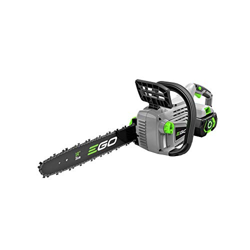 EGO Power+ CS1401 14-Inch 56-Volt Lithium-Ion Cordless Chain Saw 2.5Ah Battery and Charger Included, Black