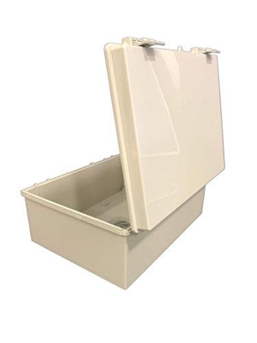 BUD Industries NBF-32026 Plastic ABS NEMA Economy Box with Solid Door, 15-47/64