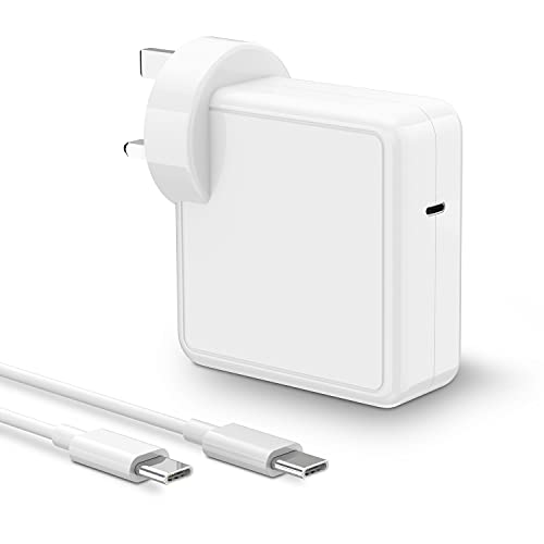 61W Mac Book Pro Charger USB C Power Adapter Mac Book Air Charger, PD Laptop Charger for Mac book Pro 13'/12'/Mac book air 13', Switch, Samsung, Lenovo, HP, And More Type C Devices, 6.6ft USB-C Cable