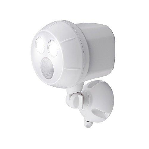 Mr. Beams MB380, 400 Lumen Version, Weatherproof Wireless Battery Powered Led Ultra Bright Spotlight with Motion Sensor, 1-Pack, White