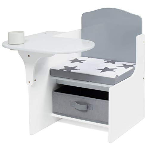 Milliard Chair Desk with Storage Bin for Kids Children Activity Playset Furniture with Modern Grey Colors