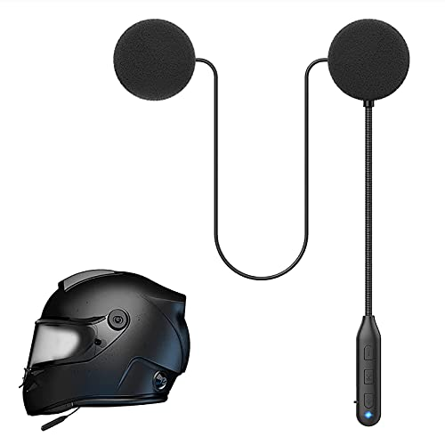 Motorcycle Bluetooth 5.0 Headphones Outdoor Helmet Earphone Bluetooth Stereo Music and Voice Microphone Soft Cable Earphone Motorcycle Helmet Intercom Headset Universal Helmet Audio System