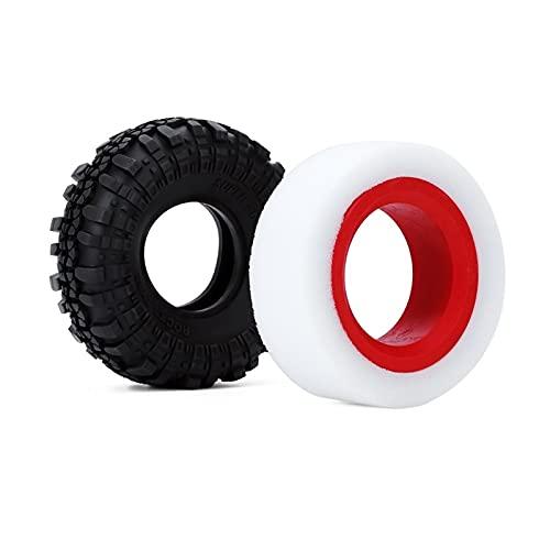 UJETML (H) Llantas de Barras Burbuja TPE de Doble Etapa 114-120mm 100-110mm FIT 1.9'RC Crawler Tire SCX10 90046 TRX4 Ruedas y neumáticos hexagonales de 17 mm. (Color : 2PCS 114 120mm)