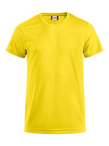 Clique Herren Funktions T-Shirt aus Polyester T-Shirt für den Sport, perforiert und feuchtigkeitsabführend in Gelb, Grösse XXL von noTrash2003®