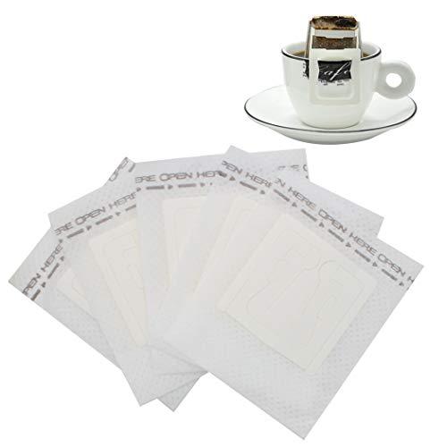 Sipliv filtro per caffè in carta monouso filtri a tazza singola filtro per caffè appeso orecchio gocciolamento non tessuto caffè bustine da viaggio caffettiere - 100 pezzi