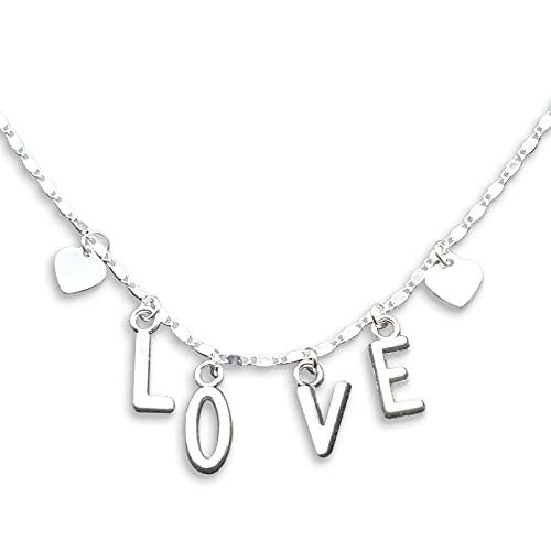 Colgante de amor de moda clavícula cadena joyería amor carta colgante popular melocotón corazón señora collar regalo de cumpleaños