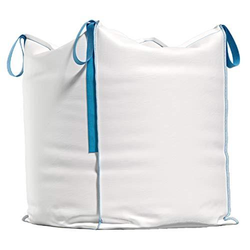 Big Bag Sac de transport pour gravats, bois, déchets de jardin, sable, etc. 90 x 90 x 90 cm, capacité de charge 1000 kg