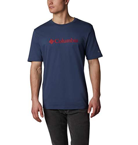 Columbia CSC Basic Logo, T-shirt à Manches Courtes, Homme,, 100% Coton Jersey, Bleu (Dark Mountain), Taille US : XL, 1680051479S