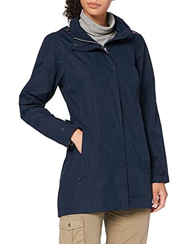 CMP Damen Windproof and Waterproof rain Jacket WP 10.000 Regenmantel, Black Blue, D48