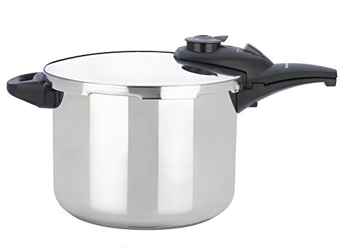 Fagor Innova Premium Automatic 10 Quart Multi Setting Pressure Cooker and Canner with Glass lid and Accessories, Polished Stainless Steel - 918010111