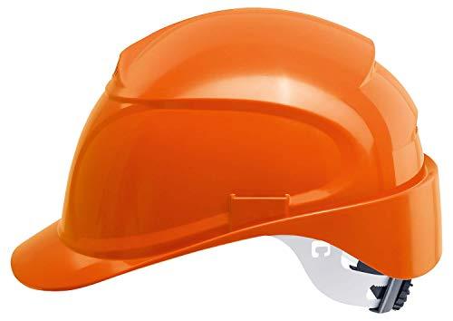 Uvex Airwing B-WR Baustellenhelm mit Weitenregulierung - Langer Schirm - Orange