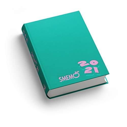 Smemo - Diario 2020/2021 16 Mesi - Verde Logo Rosa - 11x15cm