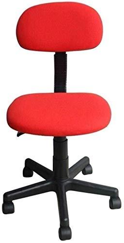 HHJJ Silla giratoria para videojuegos, silla de comedor o oficina con patas con ruedas y elevador, silla de ordenador, respaldo independiente, silla de escritorio – 55664Z2F3K (color: rojo)