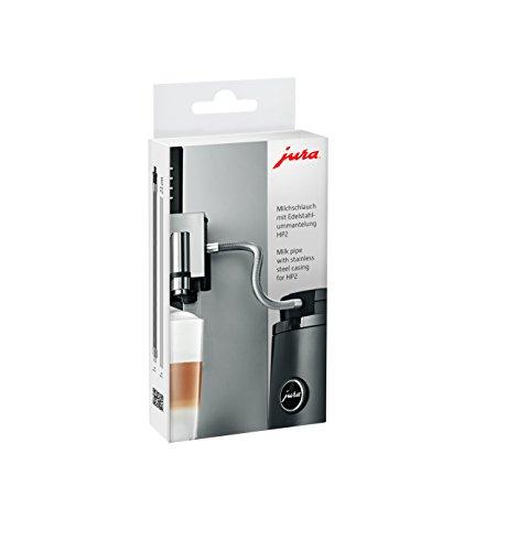 Jura 24113 - Tubo per latte con rivestimento in acciaio INOX, colore: Argento