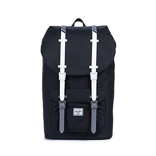 Herschel Little America Laptop Backpack, Black/White/Blueprint, Classic 25.0L