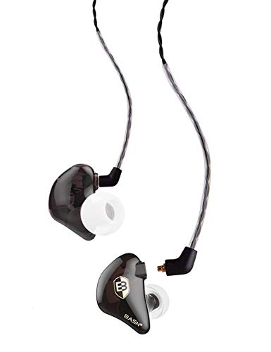 BASN Bsinger BC100 in Ear Monitor Headphone Universal Fit Noise Cancelling Earphone for Musician Singer Band Studio Audiophile(Brown
