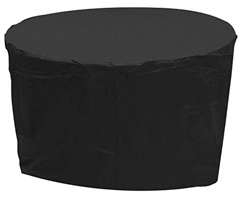 Oxbridge Black Medium Round Outdoor Garden Patio Furniture Set Cover 1.86m x 1m / 6.2ft x 3.3ft, 5 YEAR GUARANTEE