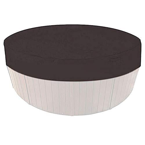 GeKLok Cubierta redonda para jacuzzi exterior, protección contra rayos UV, portátil, impermeable, resistente a la humedad, plegable